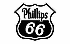 Phillips 66 Logo Free DXF File