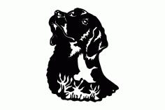 Dog Bird Silhouette Free DXF File