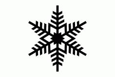Single Snowflake Design Free DXF File