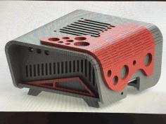 Front Retro Raspberri Pi 3 Case Free DXF File