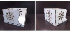 Laser Cut Cnc Napkin Holder Free DXF File
