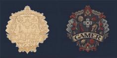 Laser Cut Engrave Gamers Logo Free CDR Vectors Art