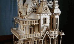 Laser Cut Wood Castle Design Free DXF File