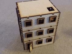 Three Storey Brickhouse 28 Mm  Free DXF File