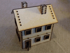 Three Storey Brickhouse Roof Ceramic Tiles Free DXF File