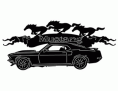 69 Mustang Car Silhouette Free DXF File