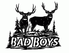 Bad Boys Moose Free DXF File