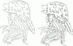 Bear Headdress Download Free DXF File