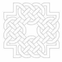 Celtic Knot Design 4 Free DXF File