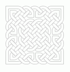 Celtic Knot Design 5 Free DXF File