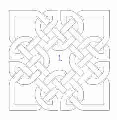 Celtic Knot Design 19 Free DXF File