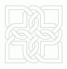 Celtic Knot Design 111 Free DXF File