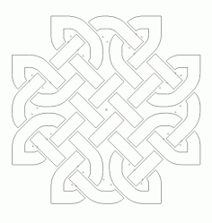 Celtic Knot Design 113 Free DXF File