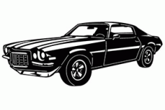 Chevy Camaro Car Free DXF File