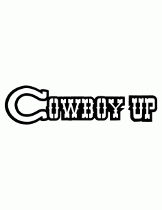 Cowboy Up Free DXF File