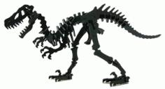 Dinosaur Skeleton Free DXF File