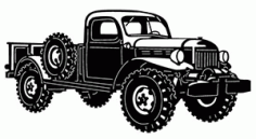 Dodge Power Wagon Free DXF File
