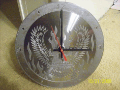 Eagle Clock Download Free DXF File