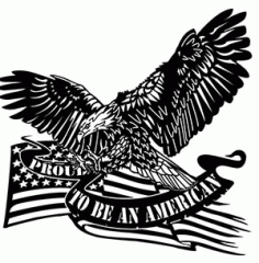 Eagle Decal Silhouette Logo Free DXF File