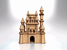 Fantasy Castle Laser Cut Plan Free CDR Vectors Art