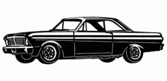 Ford Falcon Car Free DXF File