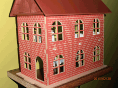 Laser Cut House Project Free DXF File