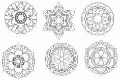 Laser Cut Mandala Designs Free DXF File