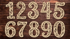 Laser Cut Numbers Template Download Free DXF File