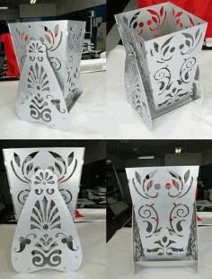 Laser Cut Vase Flower Box Download Free DXF File