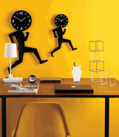 Laser Cut Wall Clocks Download Free DXF File
