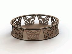 Mdf Laser Cutting Designs Bandejas Borboletas Free CDR Vectors Art