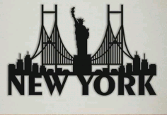 New York Laser Cut Cnc Free DXF File