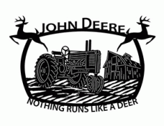 Nothing Runs Like A Deer Free DXF File