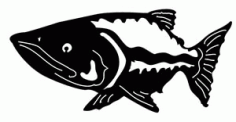 Silhouette Fish 39 Free DXF File