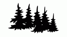 Silhouette Tree 5 Free DXF File