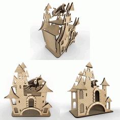 Diy 3d Puzzle Castle Design Free CDR Vectors Art