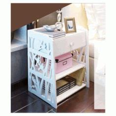 Corner Wooden Shelf Storage Template Free DXF File
