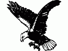 Flying Eagle Silhouette Black Free DXF File