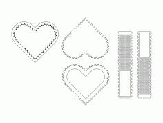 Heart Box Sketch Free DXF File