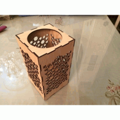 Laser Cut Candles Holder Box Free DXF File