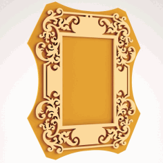 Laser Cut Engraved Wooden Frame Art Free DXF File