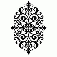 Laser Cut Floral Stencil Design m11 Free DXF File