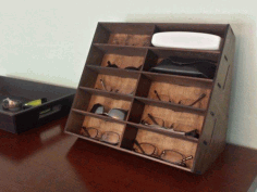 Laser Cut Glasses Storage Rack Free DXF File