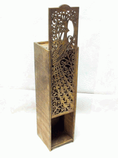 Laser Cut Pattern 3d Wooden Storage Box Free DXF File