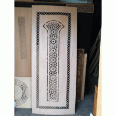 Laser Cut Plywood Door Design Free DXF File