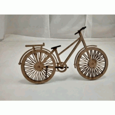 Laser Cut Wooden Bicycle Model Free DXF File