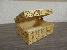 Laser Cut Wooden Box Free DXF File