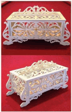 Laser Cut Wooden Jewelry Box Free DXF File