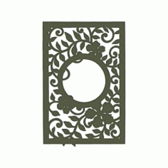 Decorative Leafy Frame Free DXF File