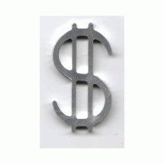 Dollar Sign silver Free DXF File